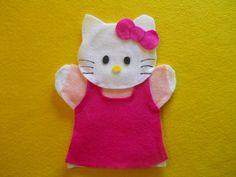 Hello Kitty felt hand puppet by puppetmaker on Etsy, $4.99