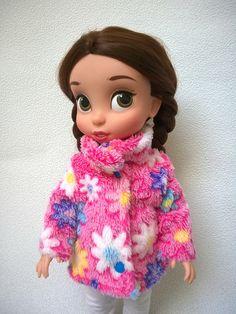 Růžový huňatý kabátek