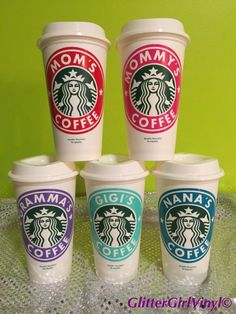 Mom, Mommy, Gramma, Nana, Gigi Personalized & Customized Starbucks Cup - Great gift for the Holidays!