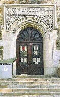 Entrance: John Monteith Branch, Detroit Public Library--Detroit MI by pinehurst19475, via Flickr