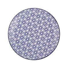 Discover the Tokyo Design Studio Nippon Blue Dinner Plate - Stripe at Amara