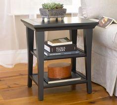 "Metropolitan Rectangular Side Table | Pottery Barn- Overall: 22"" wide x 18.5"" deep x 25"" high"