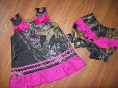 Custom BOUTIQUE Daddy's Girl Camo camouflage = Ryan will want a little girl lol