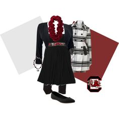 """""""Gamecocks Tailgating Outfit"""" by deannalexis on Polyvore #SouthCarolina #tailgate #shewaswearinggarnetandblack"""