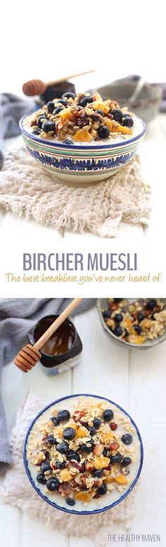 Made with nuts, dried and fresh fruit, almond milk and rolled oats, you will quickly discover why this is the best ever bircher muesli! Just whip up the night before, place in the refrigerator and you have breakfast waiting for you in the morning. This is