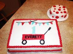 red wagon birthday cake | Red wagon cake — Children's Birthday Cakes