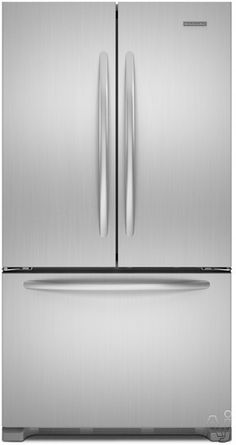 KitchenAid KFCS22EVMS 21.8 cu. ft. Counter-Depth French Door Refrigerator with Adjustable SpillClean Glass Shelves, Interior Water Dispenser and Humidity-Controlled Crisper: Monochromatic Stainless Steel