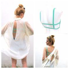NEW Woman's Strappy 2 Strap Mint Bra Bralette Lingerie Festival Beach Preppy Fashion Wear