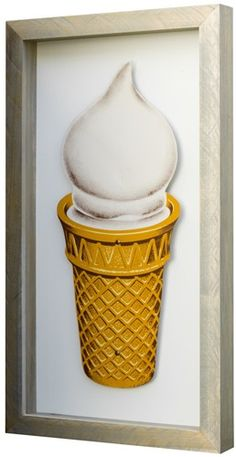 Ice Cream (Shadowbox Art)