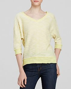 yellow sweater...casual yet interesting!