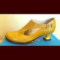 John Fluevog Shoes - John Fluevog Gracias Women's Shoes (Yellow)