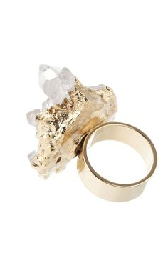 Ceek Jewelry Quartz Cluster Ring  $27.00