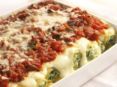 Spinach and Ricotta Manicotti from Cookstr. http://punchfork.com/recipe/Spinach-and-Ricotta-Manicotti-Cookstr