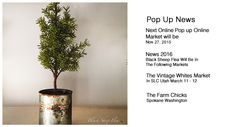 This Charming Tree can be up year round. The base is a aged tin can. I love this!