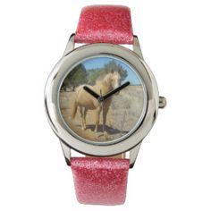 Horse_Beauty,(4),_Girls-Pink_Glitter_Watch Wristwatches