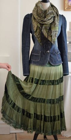 Image result for tiered peasant skirt