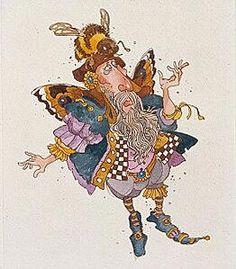 JamesChristensen - Faerie with a Bee in His Bonnet