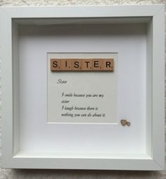 Sister scrabble box frame