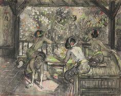 Adrien Jean Le Mayeur de Merprès- Gadis-gadis Bali