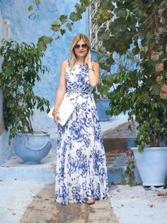 Blue on Blue (Suburban Faux-Pas) Beautiful Summer Dresses, Blue Summer Dresses, Summer Outfit, Spring Outfits, Prep Style, Mom Style, Inverted Triangle Fashion, Modesty Fashion, Celebrity Outfits
