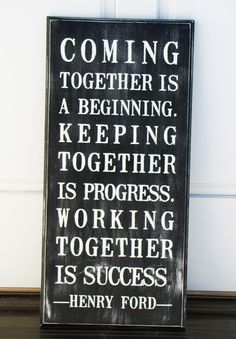 Painted Together wooden black and white quote sign (11 x 24 and ready to hang). $28.00, via Etsy.