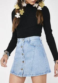 O & O Free, fast shipping on Button Up Denim Mini Skirt at Dolls Kill, an online boutique for trendy & street style clothing. Shop fast fashion clothes & accessories here.
