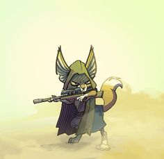 Spine character. Sniper Fox (smoother version)
