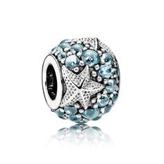 Top Quality 925 Sterling Silver Bead Charm Oceanic Starfish With Stones Beads Fit Pandora Bracelet Bangle Diy Jewelry