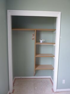 hall closet?  use hangers on one side, shelves for bins and then some hooks on the end