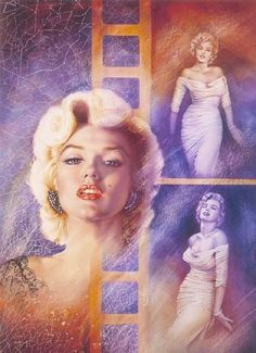 Marilyn Monroe portrait. Artist Unknown, (cannot make out his or her signature) || This image first pinned to Marilyn Monroe Art board, here: http://pinterest.com/fairbanksgrafix/marilyn-monroe-art/ || #Art #MarilynMonroe