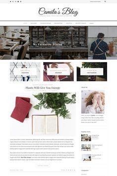 WordPress Theme , Camila - Minimal Blog