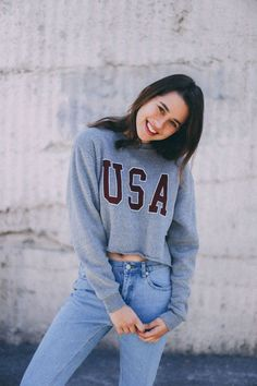 Brandy ♥ Melville | Nancy USA Sweatshirt - Graphics