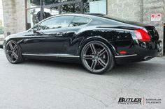 Bentley Continental GT with 22in Vossen HF-1 Wheels