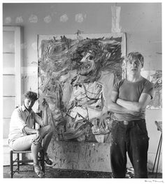 Elaine and Willem de Kooning, 1950, Rudy Burkhardt