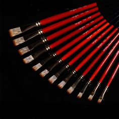 31.99$  Buy here - http://aipgd.worlditems.win/all/product.php?id=32260227270 - 12pcs/set  Oil Brush Paint Brush Watercolor Brush Drawing Tools Art Brush Art Tools Red Wooden Handle