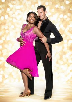 Sunetra starker and Brendan Cole, strictly come dancing 2014 official photo