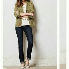 Paige Hidden Hills Straight Jeans NWT, W 14.5', H 17', inseam 33.5' strechy,  run a tad small. Please check measurements or reviews online. 69%cotton, 30%polyester 1%elastane. Anthropologie  Jeans Straight Leg