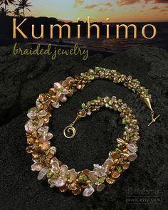 Kumihimo Jewelry by David Pramik  A selection of distinctive Kumihimo braided jewelry. Sensational pearl, coral, lapis lazuli and glass necklaces created using the ancient art of Kumihimo. All items available on the ETSY website. Search store: dlpCraftsman.