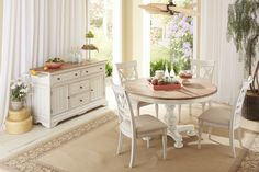 Cottage Round Dining Room Set | Cresent Furniture | Home Gallery Stores