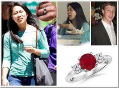 Mark Zuckerberg's Love Soaked Ruby Ring
