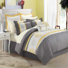 Chic Home 8-Piece Embroidery Comforter Set, Queen, Beijing Yellow Chic Home,http://www.amazon.com/dp/B00FMNJ05Q/ref=cm_sw_r_pi_dp_-kB3sb1HJGZ6SQ34