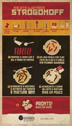 Estrogonofe de carne. | 13 receitas ilustradas que te farão ir para a cozinha agora