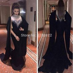 Cheap dresses prom dress, Buy Quality dress aqua directly from China dress double Suppliers: Dubai Kaftan Beaded Halter Black Long Evening Dresses 2017 Chiffon Mermaid Moroccan Kaftan Gowns Plus Size Abaya Dress Custom Party Dresses With Sleeves, Fitted Prom Dresses, Prom Dresses 2017, Black Prom Dresses, Mermaid Prom Dresses, Dance Dresses, Dress Prom, Dress Black, Long Black Evening Dress