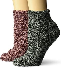 Sizes 4-10 Black and Pink Scholl/'s Stress Relief Spa Fuzzy Socks Dr 2 Pack