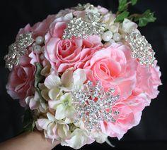 Boxing week sale Rhinestone Wedding Bouquet   8 by WeddingArtz