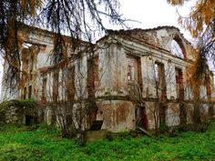 The Onuskis manor ruin - in the small area of Skuomantai, the settlement of Onuškis, Rokiškis district, Lithuania.