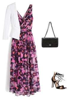 """""""Untitled #1779"""" by carlene-lindsay ❤ liked on Polyvore featuring J.Crew, White House Black Market, Gianvito Rossi and Chanel"""