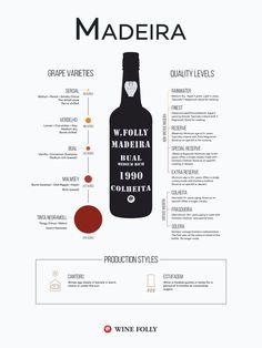 What is Madeira Wine? The Rare Island Wine- What is Madeira Wine? The Rare Island Wine Madeira is a fortified wine available in a range of dry… - Wine Facts, Wine Folly, Wine Searcher, Wine Education, Wine Guide, Funchal, Wine And Beer, Wine And Spirits, Wine Making