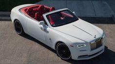 #WhiteandRed Rolls Royce Dawn on Black Forgiatos !
