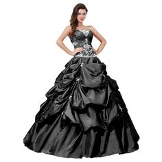 Plus Size Wedding Dresses | Black and white plus size ball gowns quinceanera dresses for prom 2013 ...
